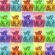 Fun Spring Bunnies Art Print