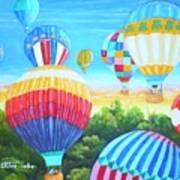 Fun With Balloons Art Print