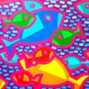 Funky Fish Art Print