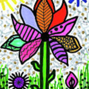 Funky Flower Mod Pop Art Print