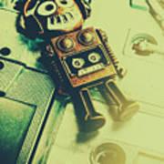 Funky Mixtape Robot Art Print