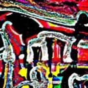Funky Pop-16 Art Print