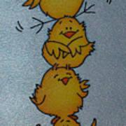 Funny Chickens Art Print