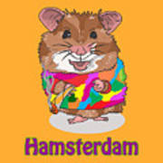 Funny Design Illustration Puns Hamsterdam The Wire Art Print