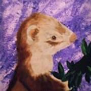 Funny Ferret Art Print