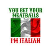 Funny Italian Flag Art Print