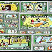 Funny Money Collage Art Print