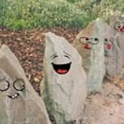 Funny Rocks Art Print