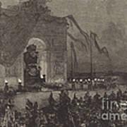 Fun?railles De Victor Hugo.  La Veill?e Art Print