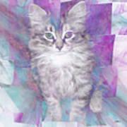 Fur Ball - Square Version Art Print