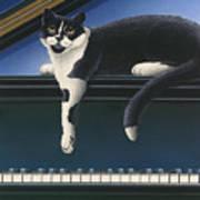 Fur Neil - Cat On Piano Art Print