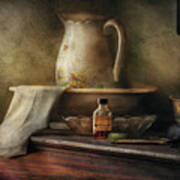 Furniture - Table - The Water Pitcher Art Print by Mike Savad
