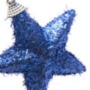 Furry Christmas Star Art Print