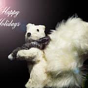 Furry Holiday Art Print