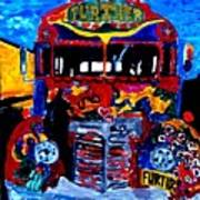 50th Anniversary Further Bus Tour Art Print