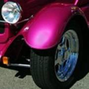 Fuschia Hot Rod Wheel  Art Print
