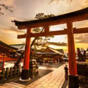 Fushimi Inari Taisha Shrine In Kyoto Art Print