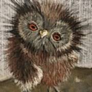 Fuzzy Owl Art Print