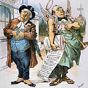 G. Cleveland Cartoon, 1892 Art Print