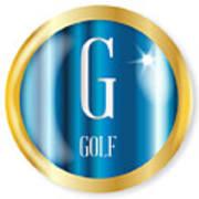 G For Golf Art Print