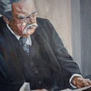 G K Chesterton Art Print