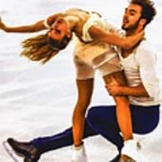 Gabriella Papadakis And Guillaume Cizeron Art Print