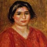 Gabrielle In A Red Blouse 1913 Art Print