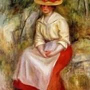 Gabrielle In A Straw Hat 1900 Art Print