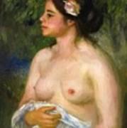 Gabrielle With A Rose The Sicilian Woman Art Print