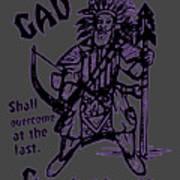 Gad At The Last-purple Trim Art Print