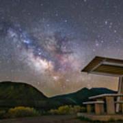 Galactic Picnic - Milky Way At Pyramid Lake Art Print