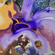Galactic Portal. Abstract Fluid Acrylic Pour Art Print