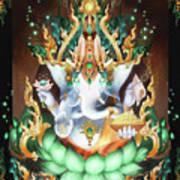 Galactik Ganesh Print by George Atherton