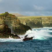 Cliffs At Suarez Point, Espanola Island Of The Galapagos Islands Art Print