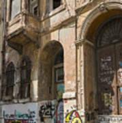 Galata Street Scene Art Print