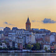 Galata Tower In The Morning. Art Print