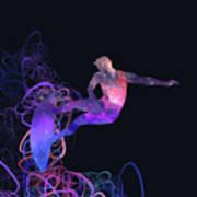Galaxy Surfer 3 Art Print