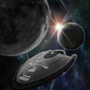 Galaxy Trek  Vulcan To Boldly Go Poster  Starship Art Print