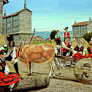 Galicia Medieval Art Print