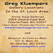 Gallery Locations In The St. Louis Area Art Print