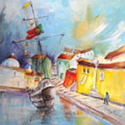Gallion In Vila Do Conde Art Print
