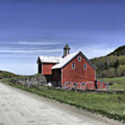 Gallop Road Barn Art Print