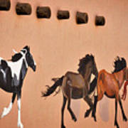 Galloping Horses Mural - Taos Art Print
