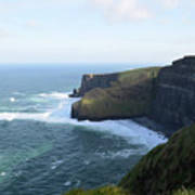 Galway Bay And Towering Cliffs Of Moher In Ireland Art Print