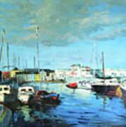 Galway Docks Art Print