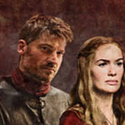 Game Of Thrones. Cersei And Jaime. Art Print