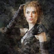 Game Of Thrones. Cersei Lannister. Art Print
