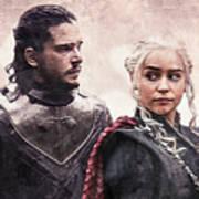Game Of Thrones. Jon Snow And Daenerys Targaryen Art Print