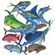 Gamefish Collage Art Print