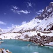 Gandharva Tal And Mount Shivaling Art Print